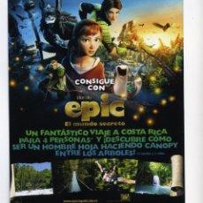 Cine: EPIC, EL MUNDO SECRETO. DIBUJOS ANIMADOS.. Lote 40106437