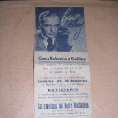 Cine: PROGRAMA LAS AVENTURAS DEL BARON MUCHAUSEN - HANS ALBERS PROGR. DOBLE 1944. Lote 39706776