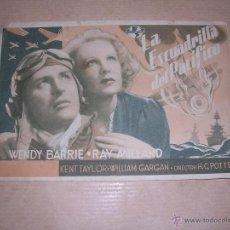 Cine: PROGRAMA - LA ESCUADRILLA DEL PACIFICO DIR. H.C.POTTER 1944 XII FERIA OFICIAL DE MUESTRAS . Lote 39715682