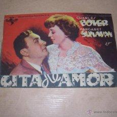 Cine: PROGRAMA DOBLE - CITA DE AMOR , CHARLES BOYER , . Lote 39715836