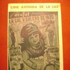 Cine: ARAJOL.LA SAL Y SALERO DE 1920.F-937. Lote 39758636