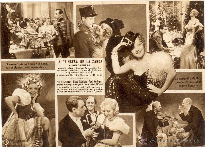 Cine: La Princesa de la Zarda - Programa doble cine 1934 - Foto 2 - 39779693