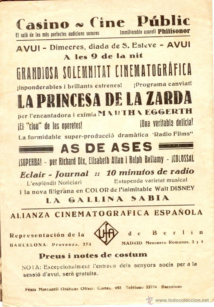 Cine: La Princesa de la Zarda - Programa doble cine 1934 - Foto 3 - 39779693