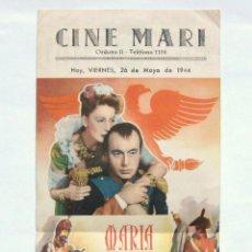 Cine: PROGRAMA DOBLE *MARIA WALEWSKA* 1944 GRETA GARBO CHARLES BOYER. CINE MARI LEÓN. Lote 39810610
