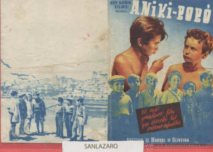 CARTEL DE CINE --PROGRAMA-- ANIKI-BOBÓ. REY SORIA FILMS PRESENTA... CC256 (Cine - Folletos de Mano - Infantil)