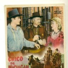 Cine: FOLLETO ORIGINAL CON PROPAGANDA - EL CHICO DE MICHIGAN . Lote 39838997