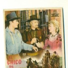 Cine: FOLLETO ORIGINAL SIN PROPAGANDA - EL CHICO DE MICHIGAN . Lote 39839033