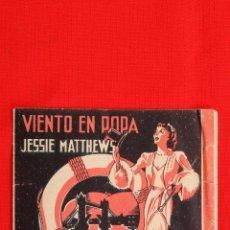 Cine: VIENTO EN POPA, DOBLE 1940, JESSIE MATTHEWS RONALD YOUNG, CON PUBLICIDAD VICTORIA. Lote 39862357