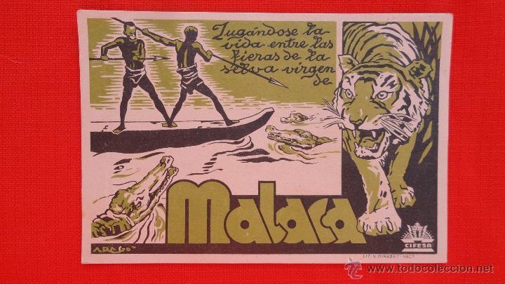 MALACA, IMPECABLE TARJETA AÑOS 30, CON PUBLICIDAD CINE PRINCESA (Cine - Folletos de Mano - Documentales)