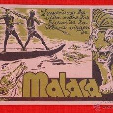 Cine: MALACA, IMPECABLE TARJETA AÑOS 30, CON PUBLICIDAD CINE PRINCESA. Lote 39881235