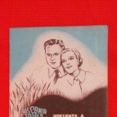 Cine: ENAMORADOS, IMPECABLE DOBLE 1936, RENATA MULLER GUSTAV FRÖHLICH, CON PUBLICIDAD EL JARDÍN. Lote 39900015