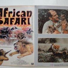 Cine: POSTER ORIGINAL AFRICAN SAFARI RIVERS OF FIRE AND ICE RONALD SHANIN IMPRESO EN ITALIA POR ROTOGRAPH . Lote 39903894