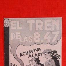 Cine: EL TREN DE LAS 8.47, IMPECABLE DOBLE 1935, ALEJANDRO MOLLA CONCHITA REY, CON PUBLICIDAD SALA REUS. Lote 39906443