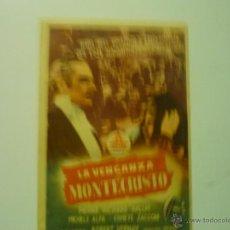 Cine: PROGRAMA LA VENGANZA DE MONTECRISTO.- PIERRE RICHARD PUBLICIDAD. Lote 39959887