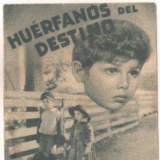 Cine: HUERFANOS DEL DESTINO PROGRAMA DOBLE PARAMOUNT ELEANOR WHITNEY DICKIE MOORE. Lote 39991083