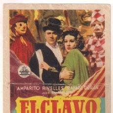 Cine: EL CLAVO PROGRAMA SENCILLO CIFESA CINE ESPAÑOL AMPARO RIVELLES RAFAEL DURAN RAFAEL GIL. Lote 39991323