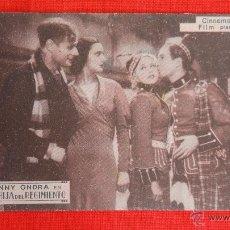 Cine: LA HIJA DEL REGIMIENTO, IMPECABLE TARJETA 1934, ANNY ONDRA, CON PUBLICIDAD SALA REUS. Lote 39991324