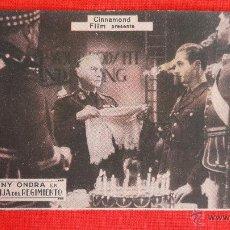 Cine: LA HIJA DEL REGIMIENTO, IMPECABLE TARJETA 1934, ANNY ONDRA, CON PUBLICIDAD SALA REUS. Lote 39991373