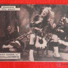 Cine: LA HIJA DEL REGIMIENTO, TARJETA 1934, EXCTE. ESTADO, ANNY ONDRA, CON PUBLICIDAD SALA REUS. Lote 39991418