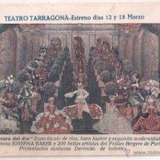Cine: LA LOCURA DEL DIA PROGRAMA TARJETA JOSEPHINE BAKER JOE FRANCIS. Lote 40034355