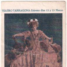 Cine: LA LOCURA DEL DIA PROGRAMA TARJETA JOSEPHINE BAKER JOE FRANCIS. Lote 40034381
