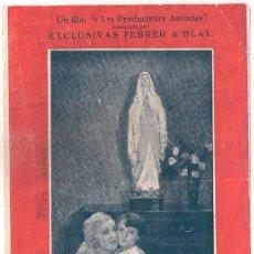 Cine: LA VIRGEN DE LA ROCA PROGRAMA DOBLE FEBRER Y BLAY LOURDES SIMONE VAUDRY COLETTE DARFEVIL. Lote 40053820