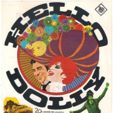 Cine: HELLO DOLLY PROGRAMA SENCILLO GRANDE 20TH CENTURY FOX BARBRA STREISAND GENE KELLY RARO. Lote 40054064