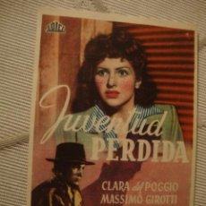 Cine: ANTIGUO FOLLETO CINE PELICULA - PROYECTADA EN ELCHE, AÑOS 40-50. Lote 40077563