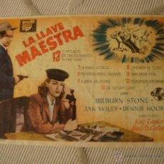 Cine: ANTIGUO FOLLETO CINE PELICULA - PROYECTADA EN ELCHE, AÑOS 40-50. Lote 40077590
