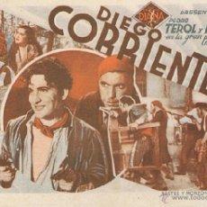 Cinema - DIEGO CORRIENTES - Actores: Pedro Terol, Goyita Herrero .../ Salón Novedades, Valencia. Elche: 1937. - 40123831