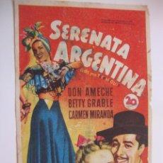 Cine: ANTIGUO FOLLETO CINE PELICULA - PROYECTADA EN ELCHE, AÑOS 40-50. Lote 40160603