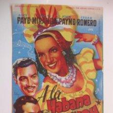 Cine: ANTIGUO FOLLETO CINE PELICULA - PROYECTADA EN ELCHE, AÑOS 40-50. Lote 40160754