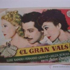 Cine: ANTIGUO FOLLETO CINE PELICULA - PROYECTADA EN ELCHE, AÑOS 40-50. Lote 40161255