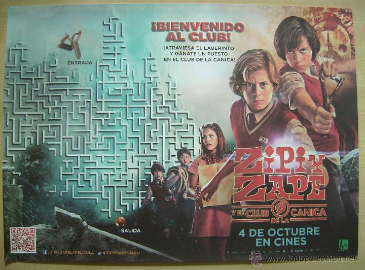 ZIPI Y ZAPE Y EL CLUB DE LA CANICA. (Cine - Folletos de Mano - Infantil)
