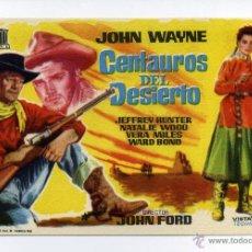 Cine: CENTAUROS DEL DESIERTO, CON JOHN WAYNE.. Lote 297057108