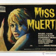 Cine: MISS MUERTE, DE JESÚS FRANCO.. Lote 50859753