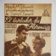 Cine: EL BURLADOR DE FLORENCIA - PROGRAMA DE MANO DOBLE - AÑO 1934. Lote 40285947