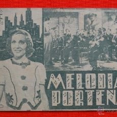 Cine: MELODIAS PORTEÑAS, DOBLE 1940, ROSITA CONTRERAS, CON PUBLICIDAD COLISEO OLYMPIA. Lote 40293215