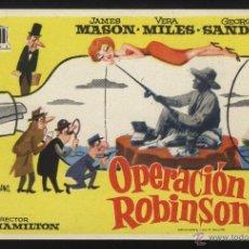 Flyers Publicitaires de films Anciens: P-2550- OPERACION ROBINSON (JAMES MASON - GEORGE SANDERS - VERA MILES). Lote 40298541