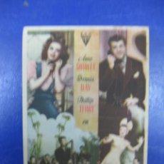 Cine: PROGRAMA CINE.- ADORABLE MENTIROSA. ANNE SHIRLEY, DENNIS DAY. RKO RADIO FILMS... Lote 40327966