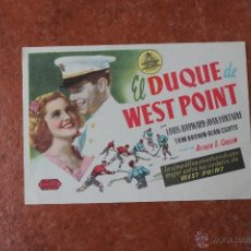 Cine: FOLLETO DE MANO: EL DUQUE DE WEST POINT. Lote 40339143