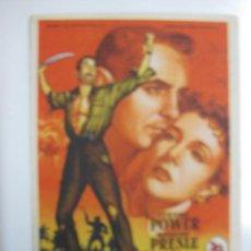 Cine: PROGRAMA DE CINE. GUERRILLEROS EN FILIPINAS. TYRONE POWER, MICHELINE PRESLE.20TH CENTURY FOX.. Lote 40343238