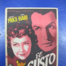 Cine: PROGRAMA CINE.- EL SUSTO. VINCENT PRICE, LYNN BARI. 20 TH CENTURY FOX.. Lote 40396038