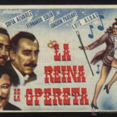 Cinema - P-2680- LA REINA DE LA OPERETA (CINE MORAN - PONFERRADA) (FERNANDO SOLER - SOFIA ALVAREZ) - 23233723