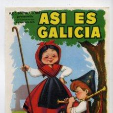 Cine: ASÍ ES GALICIA, DE SANTOS NÚÑEZ.. Lote 40419631