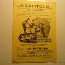 Cine: PROGRAMA LOCAL BUENOS DIAS AMOR¡ - WALTER CHIARI. Lote 40434855