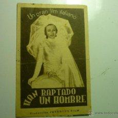 Cine: PROGRAMA DOBLE HAN RAPTADO UN HOMBRE.- VITTORIO DE SICA --PUBLICIDAD CINEMA ESPAÑA-ALGECIRAS??. Lote 40448283