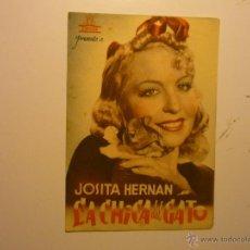 Cine: PROGRAMA DOBLE LA CHICA DEL GATO.-JOSITA HERNAN PUBLICIDAD. Lote 40451750
