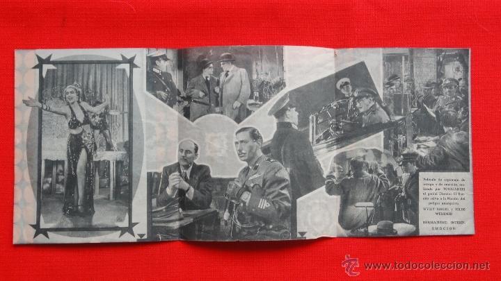 Cine: EMISORA SECRETA L.B.17, TRÍPTICO 1940, DIRECTOR TOURJANSKI, CON PUBLICIDAD VICTORIA - Foto 2 - 40485138