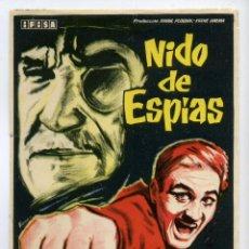 Cine: NIDO DE ESPIAS, CON ROGER HANIN.. Lote 40523389